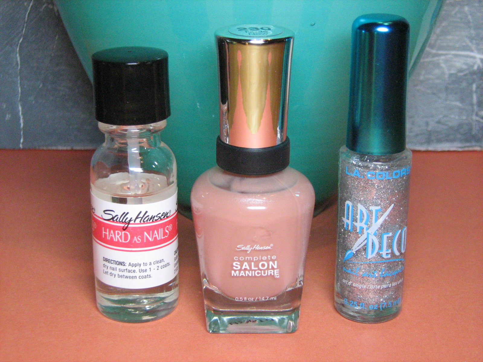 Nude Glitter Manicure Polishes